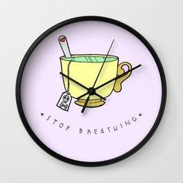Stop Breathing Wall Clock