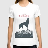 canada T-shirts featuring Visit Canada by ahutchabove