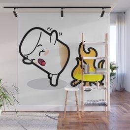 Toasty Buns Marshmallow Baby Art Wall Mural
