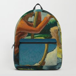 Classical Masterpiece 'Island Hay' by Thomas Hart Benton Backpack