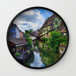 The fishermen's quarter of Colmar in France Wall Clock