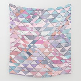 Triangle Pattern no.25 Light Pink Wall Tapestry