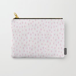Blush pink hand painted watercolor modern brushstrokes pattern Carry-All Pouch