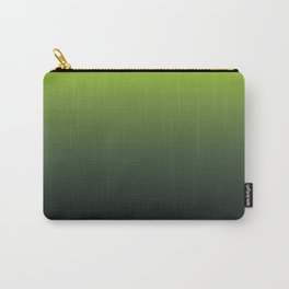 Ombre | Color Gradients | Gradient | Two Tone | Lime Green | Charcoal Grey | Carry-All Pouch