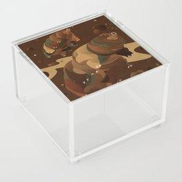 Tardigrade Enjoys Coffee Acrylic Box