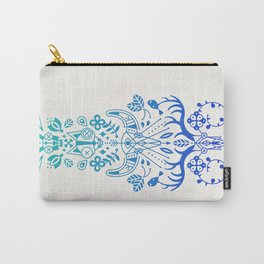 La Vie & La Mort – Blue Ombré Carry-All Pouch