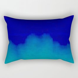 Midnight Blue Pink and Teal Abstract Art Rectangular Pillow