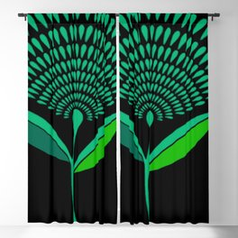 Mid Century Modern Dandelion Seed Head In Carnival Glass Blackout Curtain