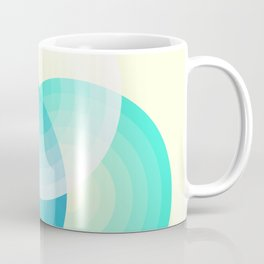 Three colour circles inverted, inspired by Lacouture's Répertoire chromatique Coffee Mug