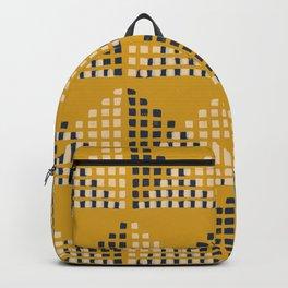 Layered Geometric Block Print in Mustard Backpack