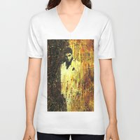 scarface V-neck T-shirts featuring Tony Montana in Scarface by Miquel Cazanya