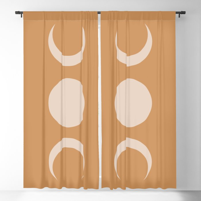 Moon Minimalism - Desert Sand Blackout Curtain