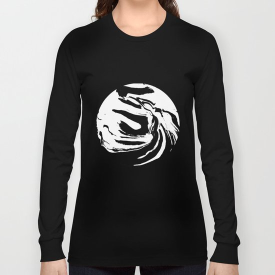 World's Threshold Black and White Marbling, Marbles Lost Long Sleeve T-shirt