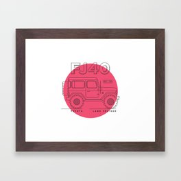Toyota Land Cruiser FJ40 Fan Artwork Framed Art Print