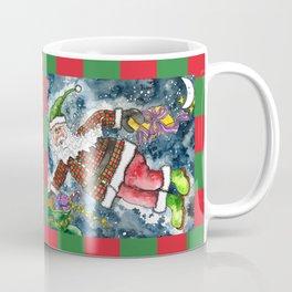 Santa Delivering Presents Coffee Mug