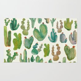 Cactus Pattern watercolar collab. with franciscomffonseca Rug