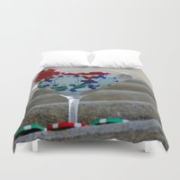 poker Duvet Covers featuring Poker by smittykitty
