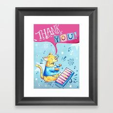 Keyboard Cat Says Thank You Framed Art Print