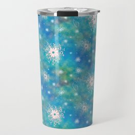 Blues Rainbow Florals Travel Mug