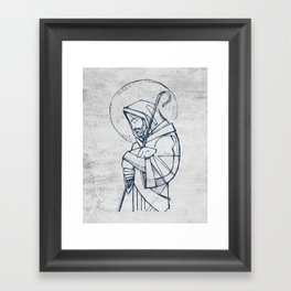 Jesus Christ Good Shepherd Framed Art Print