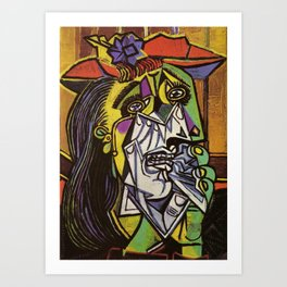 THE WEEPING WOMAN - PICASSO Art Print