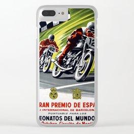 Vintage V Gran Premio De Espana Clear iPhone Case