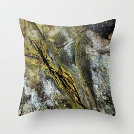 Rotten Cross Section Throw Pillow