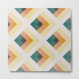 Light Square Tile Pattern Metal Print