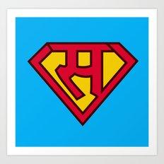sa se superman in hindi  Art Print