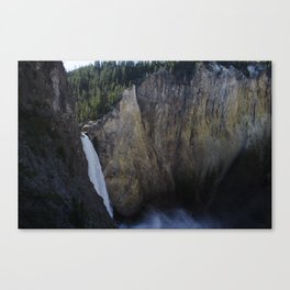 The Lower Falls - Yellowstone National Park Canvas Print