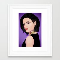 regina mills Framed Art Prints featuring Fierce Regina Mills. by tantoun
