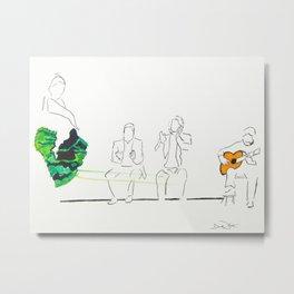 Flamenco in my Heart Metal Print
