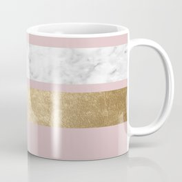 Dusky rose golden marble Coffee Mug