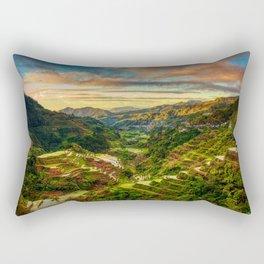 Banaue Rice Terraces Rectangular Pillow