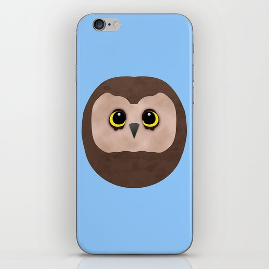 Chubby Little Owl iPhone & iPod Skin