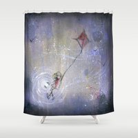 journey Shower Curtains featuring Journey by Morgan Ofsharick - meoillustration