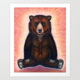 Blissed Out Bear Art Print