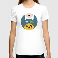 finn and jake T-shirts featuring Finn and Jake by gaps81