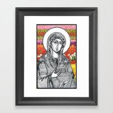 Madonna of the Tulips Framed Art Print