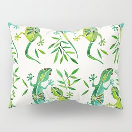 Geckos – Green Palette Pillow Sham