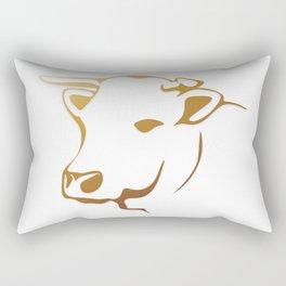 Cow logo Rectangular Pillow