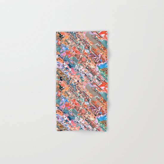 Colorful Textured Abstract  Hand & Bath Towel