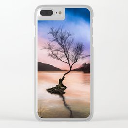 Llanberis Lake Tree Clear iPhone Case