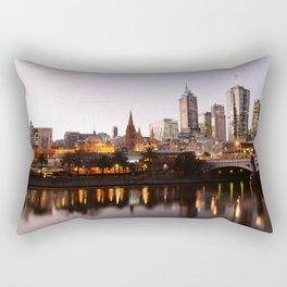 Downtown Melbourne Rectangular Pillow