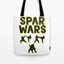 The Fighter's Sparring Tshirt Design Spar wars Tote Bag