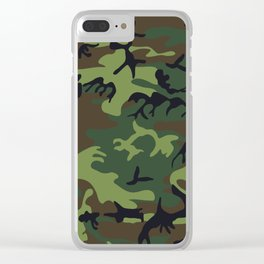Army Camouflage Clear iPhone Case