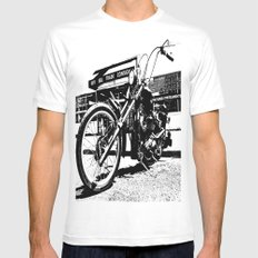 South Tacoma Chopper MEDIUM White Mens Fitted Tee
