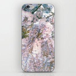 wisteria flowers iPhone Skin