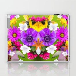 Flower mess - Pink Chaos Laptop & iPad Skin