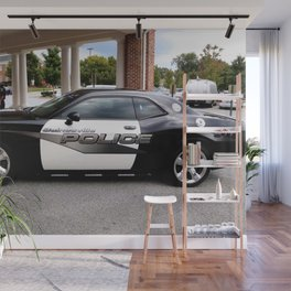 Gainesville Florida Police Challenger Black and White Patrol Car Wall Mural